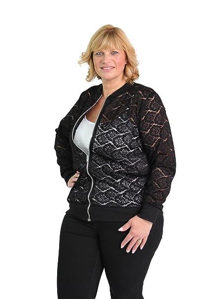 ed8b26aa9 Amazon.com: Girl Talk Clothing Womens New Lace Detail Plus Size Zip ...