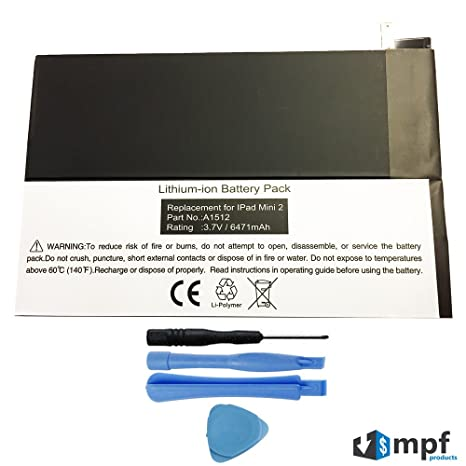 Amazon 6741mah A1512 Battery Replacement For Apple Ipad Mini 2