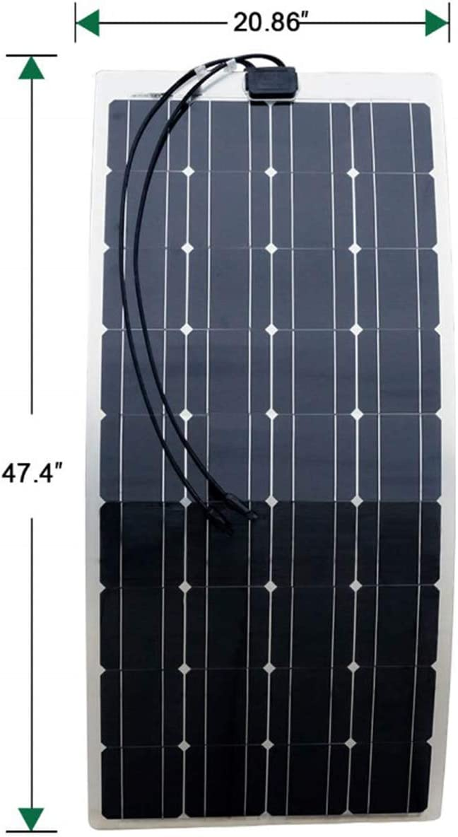 ECO-WORTHY 100W 18V vaso de semi-flexible Mono Panel Solar módulo Solar