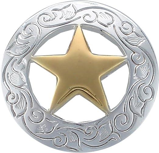 WESTERN HORSE SADDLE TACK COPPER BRONCO RIDER RANGER STAR CONCHOS screw back