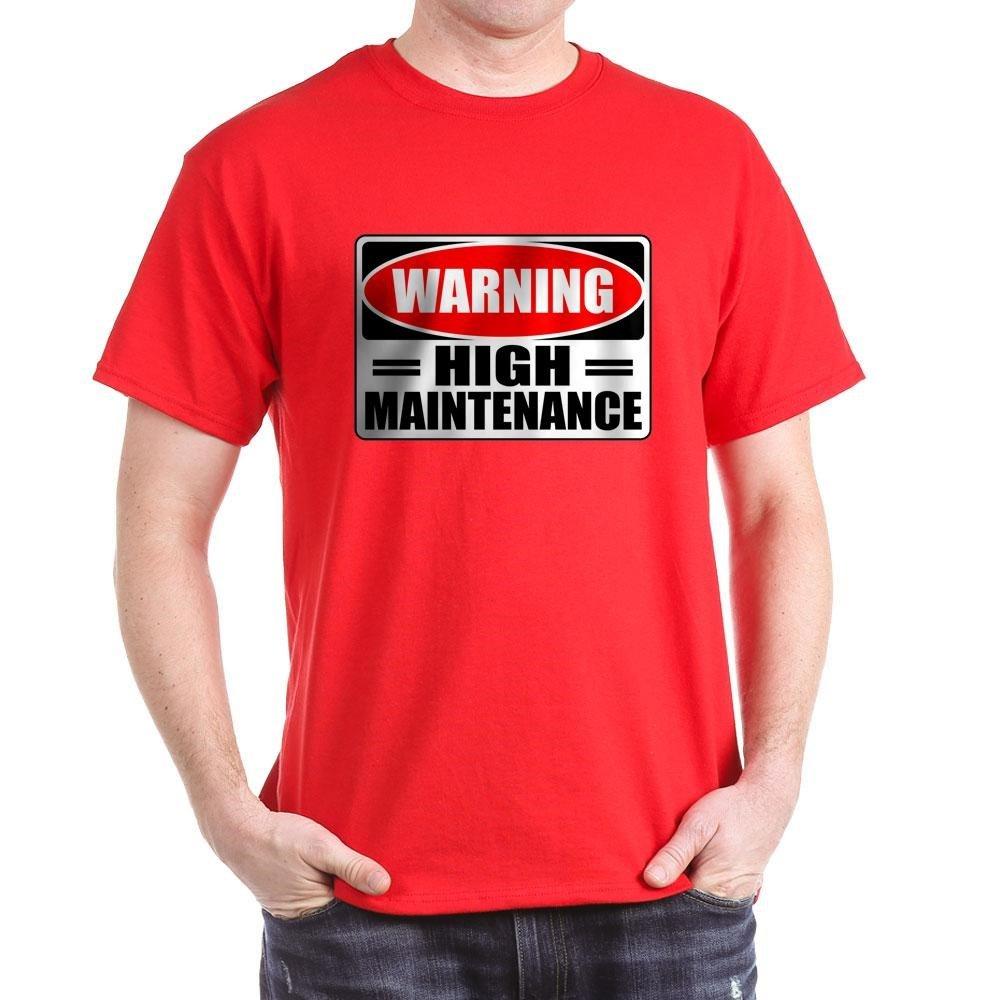 fe6f64c52 Amazon.com: CafePress High Maintenance Classic 100% Cotton T-Shirt: Clothing