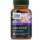 Gaia Herbs Calm A.s.A.P, Vegan Liquid Capsules, 60Count – Natural Calming Supplement to Help Reduce Occasional Anxiousness &