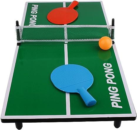 Magideal Mini mesa de ping pong juego juguete tenis de mesa regalo ...