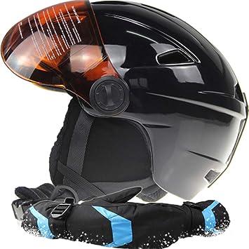 Marca Hombre/Mujer Casco de Esquí con Gafas de Esquí Guantes Regalo Snowboard Casco Snowmobile