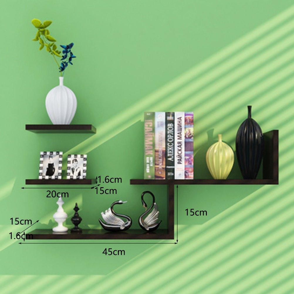 Farbe : Beige LUYIASI Modernes einfaches Wohnzimmer-Schlafzimmer-dekoratives Wand-angebrachtes Wand-Regal Shelf