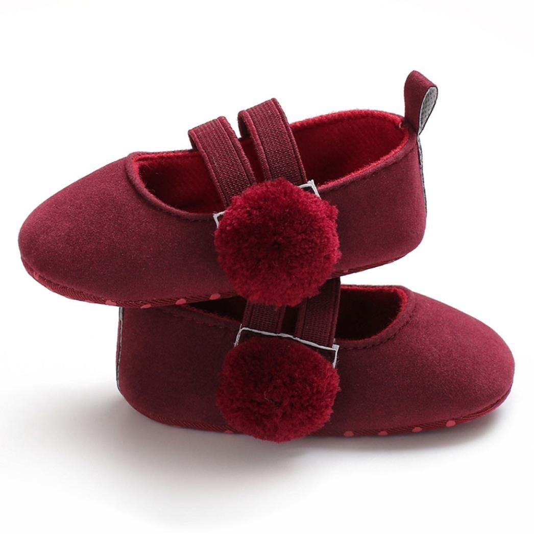 Lanhui Infant Kids Baby Sneakers Girls Flock Fashion Crib Shoes Dance Soft