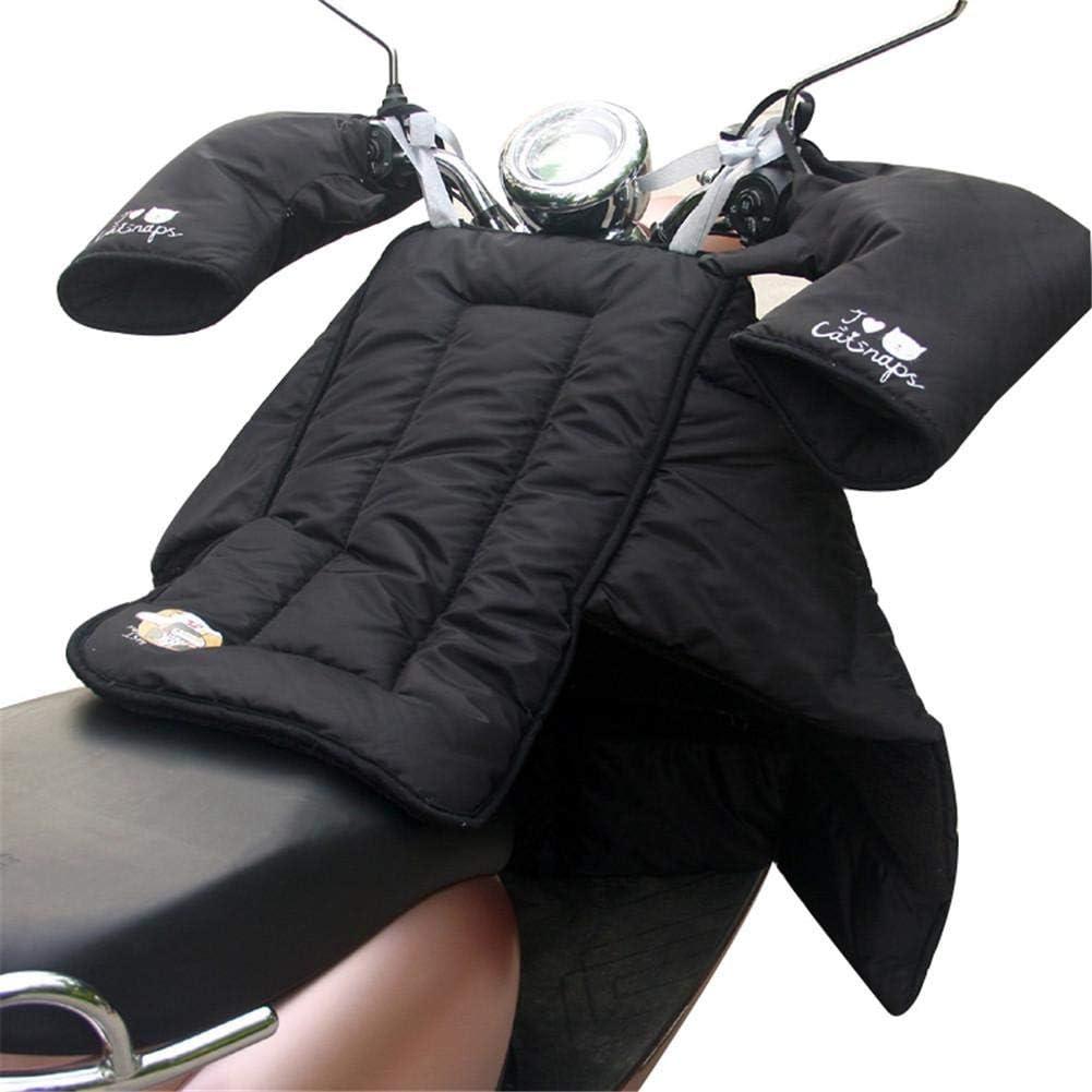 Beinschutz aus Scho/ß verdickter Motorrad-Beinschutz und Motorradhandschuhe wasserdichter Beinschutz aus Baumwolle f/ür Roller im Winter warmhaltender