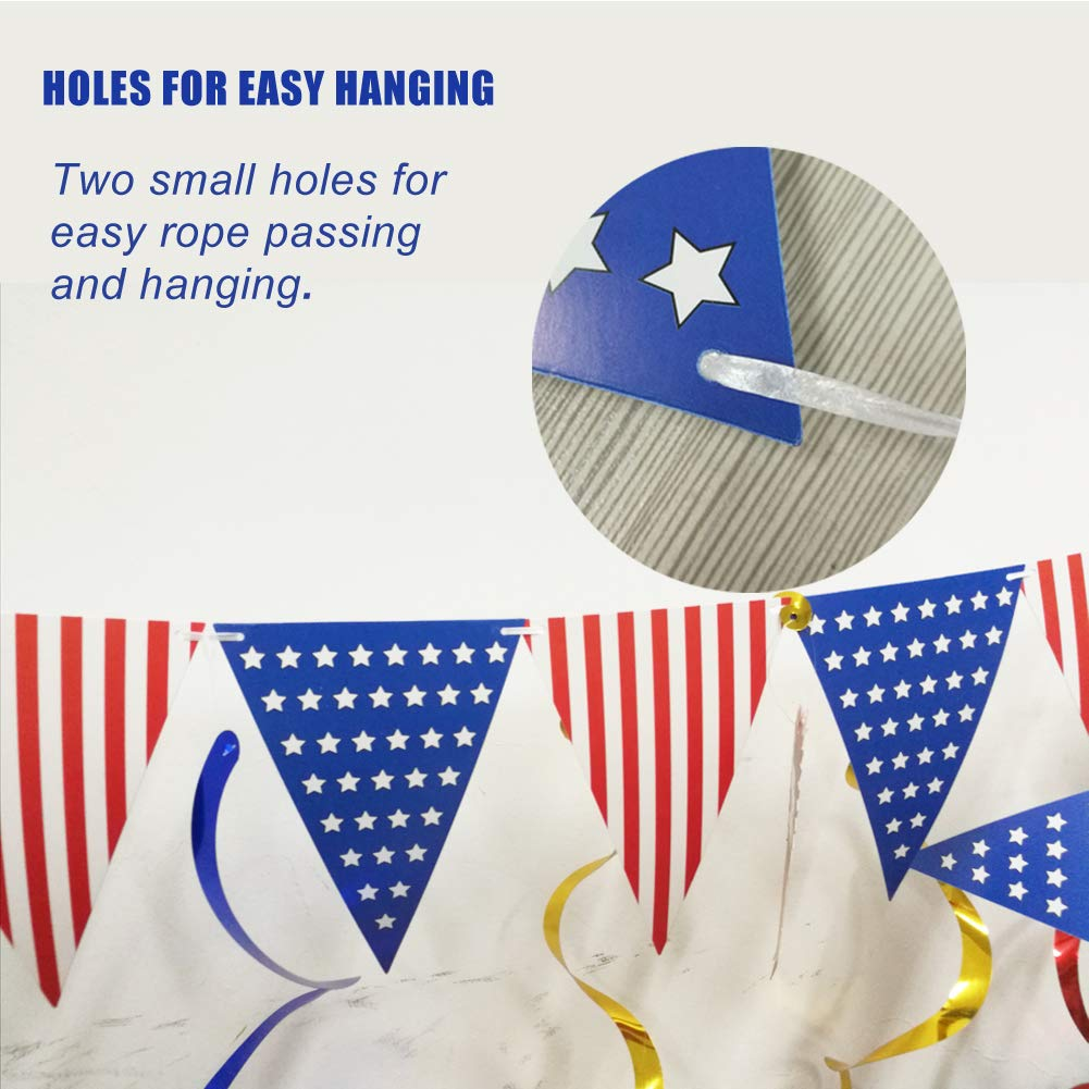USA Flag American Flags US Small String Mini Flag Pennant Banner Decorations