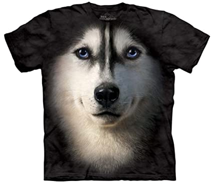 Amazon Com Siberian Husky Face Close Up Pet Dog Unisex Adult T