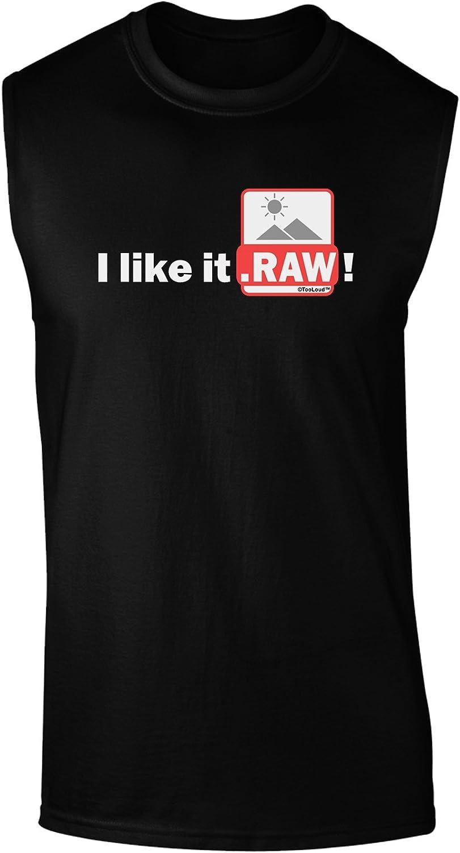 TOOLOUD I Like It RAW Dark Muscle Shirt
