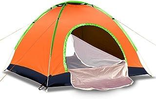 Asdomo 3–4personne Pop Up Tente de plage automatique Portable Famille Cabana Beach Canopy Sun Abris anti UV pour jardin Camping en plein air Pêche pique-nique Voyage Orange