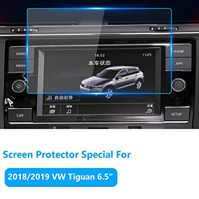 Screen Protector for Volkswagen Tiguan Navigation Display Screen 2020/2020/2020, Tempered Glass Screen Protector Anti-Explosion Enertainment LCD Screen Foils 6.5-Inch (2 Sets)