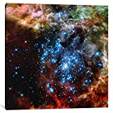 iCanvasART 1 Piece Star Cluster on Collision Course (Hubble Space Telescope) Canvas Print by NASA, 37'' x 37''/1.5'' Depth