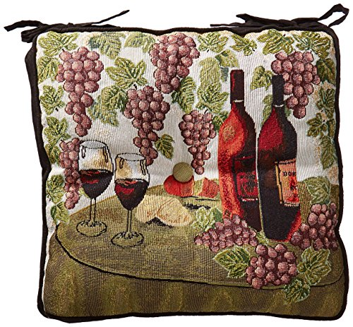 Grape Tapestry (Park B. Smith Wine Table 16 by 16-inch Tapestry Chair Pad)