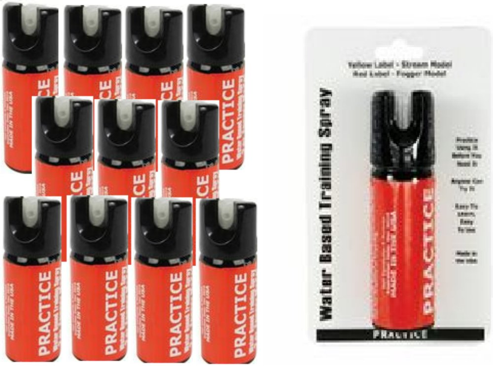 Inert Pepper Spray Practice Bundle - Lot of 12 - Inert Practice Pepper Spray Units 2oz Fogger