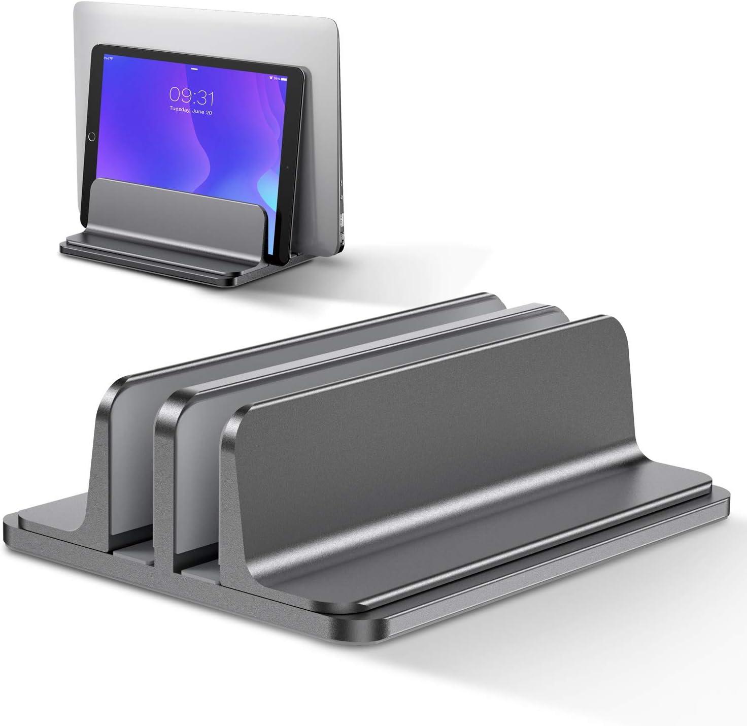 Bewahly Doppelt Vertikaler Laptop Ständer Aluminium Elektronik