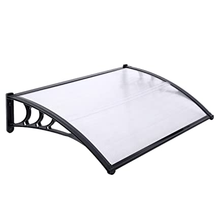 purchase cheap a5004 72c47 Large Door Canopy Awning Shelter Front Back Porch Outdoor Shade Patio Cover  (Black)