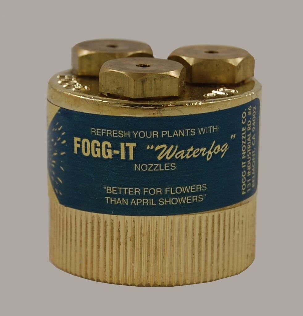 Fogg It Nozzle - Heavy Volume - 4 GPM - Waterfog - Misting Head - Fog Spraying Attachment for Plants, Flowers, Garden