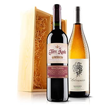 Sendagift By Virgin Wines Classic Wine Gift Duo In Wooden Gift Box