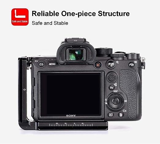 KAKAFOTO KLP-A7RIII L Plate for Sony A7R Mark III//a9 Camera Arca//RRS Compatible