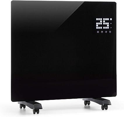 SmartHeat Design: WiFi 2000 W Riscaldatore a Convezione Display a LED Klarstein Bornholm Smart Telecomando 2 Impostazioni di Calore: 1000//2000 W IP24: a Prova di Schizzi Nero Timer 24 ore