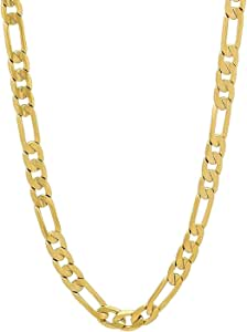 24K Figaro 9mm Gold Chain Necklace Jewelry Men/Women Life Time USA Made Gift 24-28 Inches