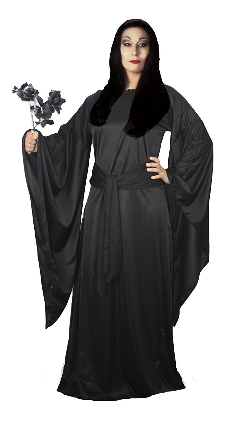 Ladies Black Morticia The Addams Family Halloween Fancy Dress Costume UK [Large/Extra Large,Morticia Addams] by The Dragons Den: Amazon.es: Juguetes y ...