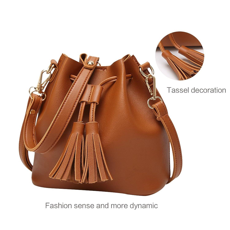Crossbody Bags for Women Bucket Bag Small Purse Drawstring with Tassel 41011a4f1f