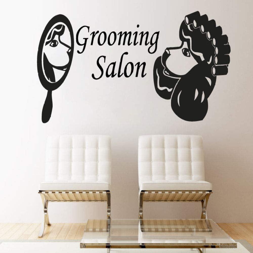Vinilo adhesivo de pared impermeable adhesivo de pared para salón de belleza, decoración para mascotas y tiendas, de calidad perfecta para pared de jardín de casa 33 x 57 cm
