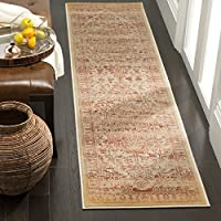 Safavieh Evoke Collection EVK516R Vintage Rust and Cream Runner (2 x 8)