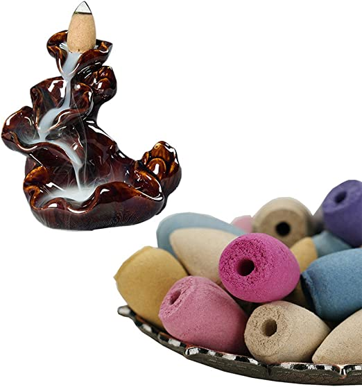 50pcs Natural Smoke Tower Cones Bullet Backflow Incense Hollow Cone High Quality