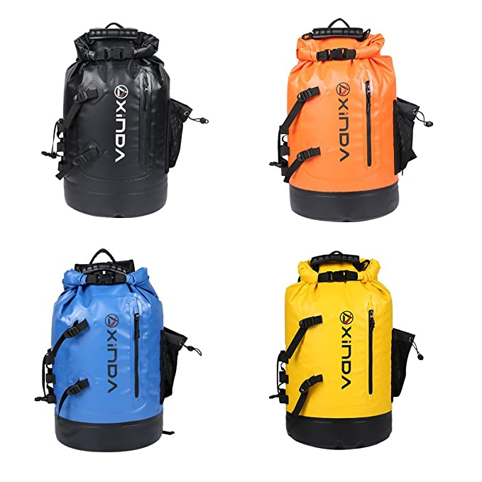 Amazon.com : Fenteer 30L Heavy Duty PVC Waterproof Dry Bag Backpack/ Rucksack Floating Sack for Boating Camping Kayaking Swimming Fishing Snowboarding ...