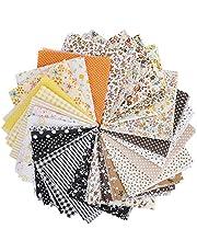 eZAKKA 28 Pieces 25 x 24 cm Craft Fabric Bundle Patchwork, Cotton Squares Quilting Sewing Patchwork