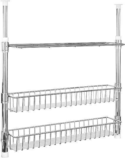 bremermann Estantería telescópica de cocina con estante, cestas y estantes, para especias.
