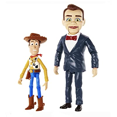 Pixar Disney Toy Story Benson and Woody Figure 2-Pack: Toys & Games