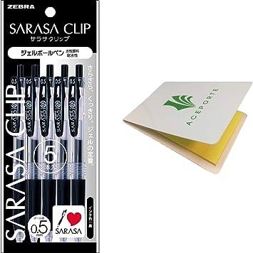 Zebra gel ball pen sarasa clip 0.5 10 colors JJ15-10CA Ballpoint Pens Japan