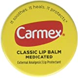 Carmex Classic Lip Balm Medicated 0.25 oz Pack of 3 (Jar in Blister Pack)