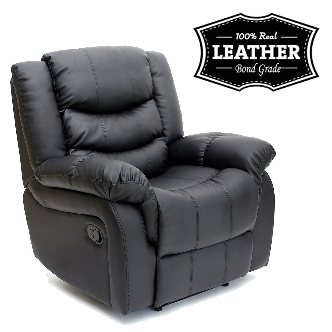 SEATTLE LEATHER RECLINER ARMCHAIR