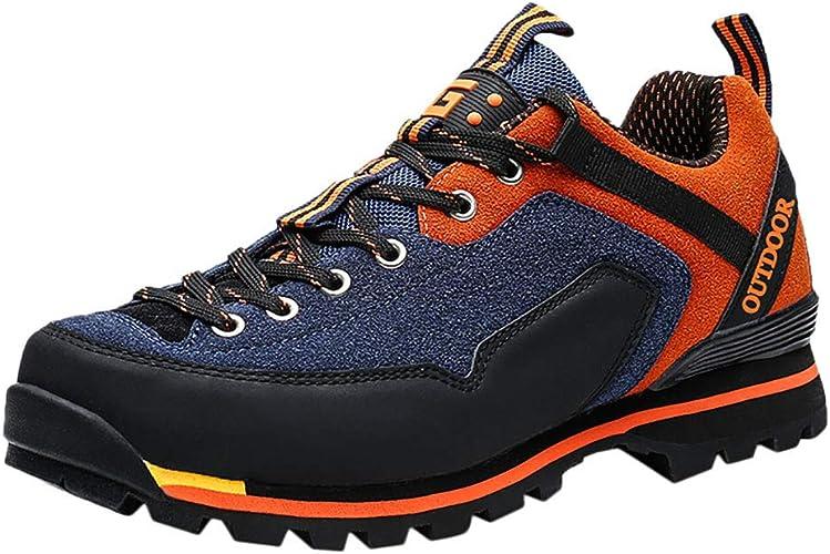 Kolylong® Wanderschuhe Herren rutschfeste Trekkingschuhe Bequeme Leichte Wasserdicht Verschleißfest Atmungsaktiv Laufschuhe Outdoor Schuhe Männer für