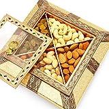 Ghasitaram Gifts Medium Copper Minakari Dryfruit Box, 200 gm