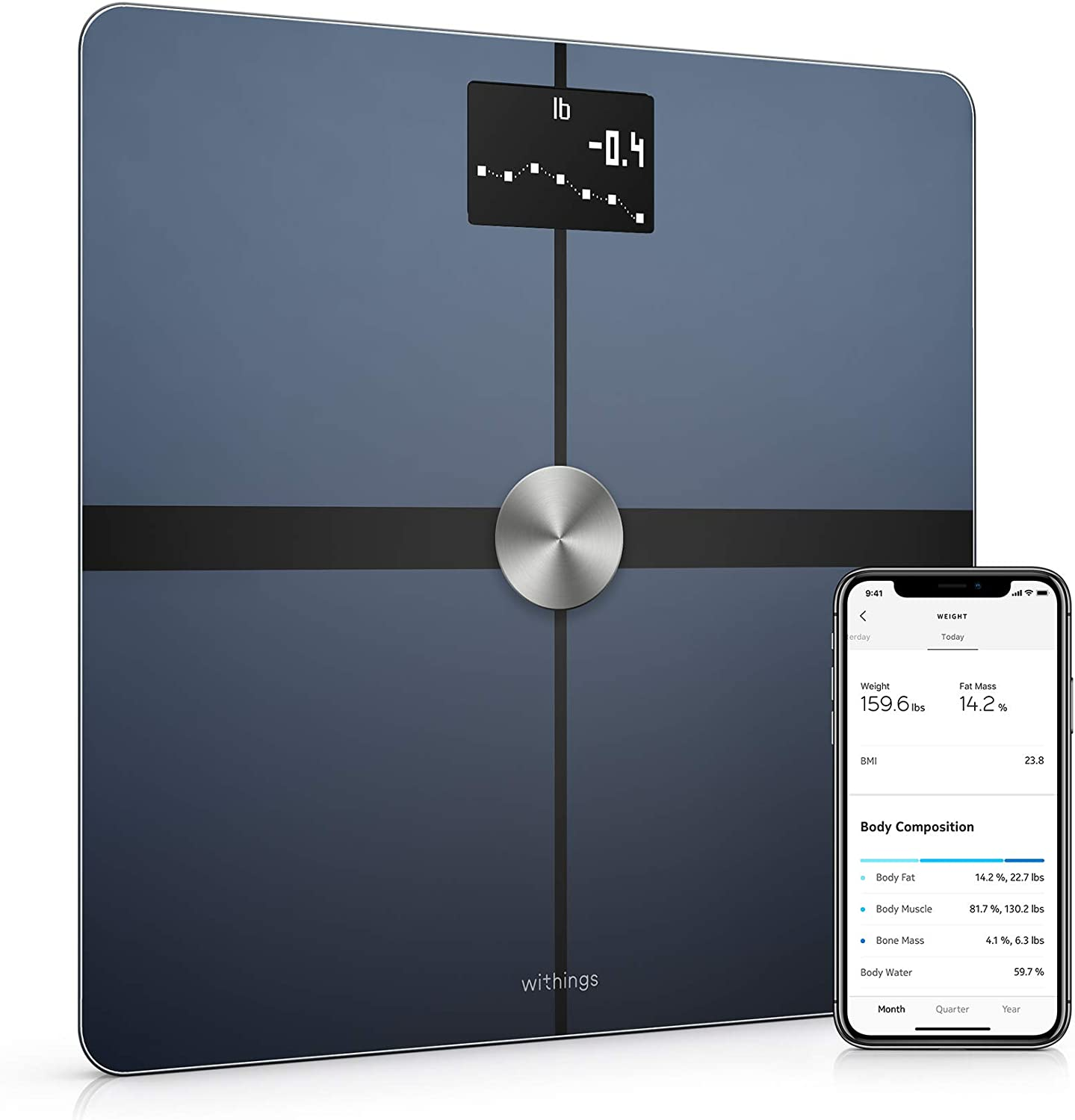 Withings Body+ - Smart Body Composition Wi-Fi Digital Scale with Smartphone app elderly gadget