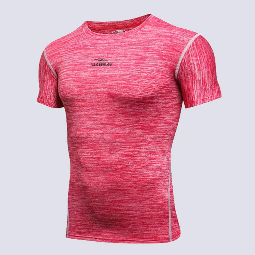 Ropa de Estiramiento Secado Rápido Camisetas Manga Corta para Hombres Deportiva Camisa Transpirable Sportswear Briskorry Chandal: Amazon.es: Ropa y accesorios