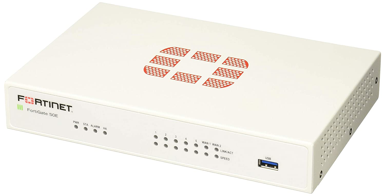 Fortinet FG-50E Next Generation (Ngfw) Firewall Appliance, 7X GbE RJ45 Ports