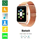 Bluetooth Smart Watch DOROIM Stainless Steel Strap, Camera, Call SMS Reminder, Sleep Monitor, Pedometer, Support SIM TF Card for Android iPhone Men Women Boys Girls