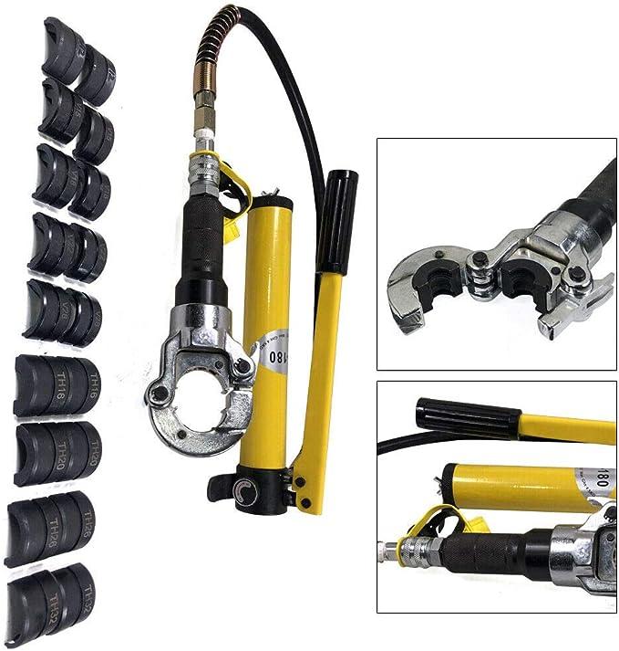 6 Ton Hydraulik Presszange Kupferrohr Radialpresse Handwerkzeuge mit 9 x Dies