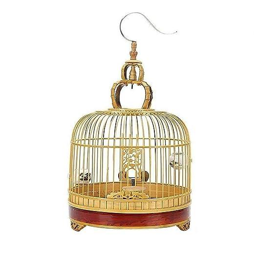 Casas para pájaros Jaula de pájaros de bambú con Gancho de Jaula ...