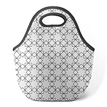 Good4Life - Neoprene Lunch Tote Insulated Reusable Picnic Lunch Bag [ I Hate Color Pattern ]