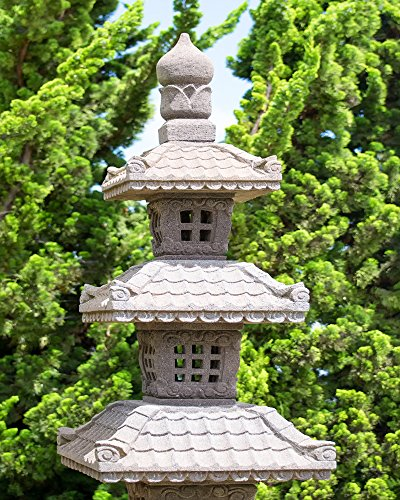 Garden Pagoda Picture, Zen Decor Art, Tranquil Calm Print (Prints Unmatted Photographic)