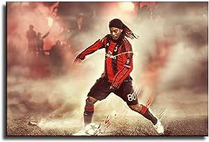 Ronaldinho Sport Wall Art Poster Canvas Prints Home Decor 16×24inch(40×60cm)