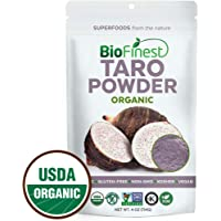 Biofinest Taro Powder -100% Pure Antioxidants Superfood - USDA Certified Organic Kosher Vegan Raw Non-GMO - Boost Digestion Weight Loss Detox - For Smoothie Bubble Tea Beverage